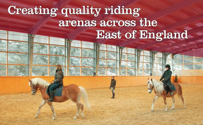 Creating quality riding arenas across the east of england. Call on 01473 892583